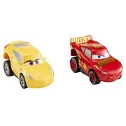 Disney Pixar Cars 3 - Revvin' Action Rust-eze Racing Center Lightning McQueen and Cruz Ramirez 2pk