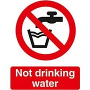Unbranded Prohibition Sign Not Drinkable PVC 15 x 20 cm