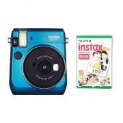 Fujifilm Instax Mini 70 Camera with 10 Shots Blue