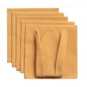 Dekoria Komplet serwetek 6szt. 42x42 jupiter żółty, 42 × 42