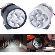 EY Jefe De La Lámpara Del Punto De 12V-85V 20W Super Brillante Luz LED De La Bici Del Motor De La Motocicleta Del Coche Plata