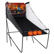 Dtemple Home Dual Shot Basketball Arcade Game with Led Scoring System Indoor Electronic Basketball G