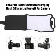 EB Universal Camera Soft Screen Pop-Up Flash Difusor Ligero Para Cámara-blanco Y Negro