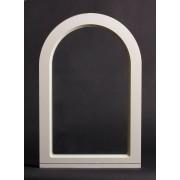 Dala Dörren Dekorfönster Munk utvändigt 390x590mm vit enkelglas