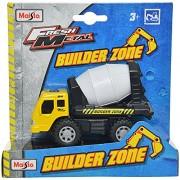 Maisto Builder Zone Cement Mixer Die Cast Toy Truck (Yellow & White)