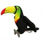 Hansa Toekan knuffel vogel 15 cm