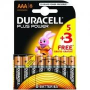 Duracell Plus Power AAA Pack de 5 + 3 gratuits (MN2400B5+3)