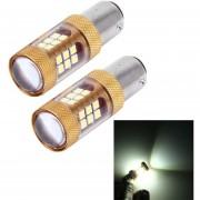 2 Pcs 1157 15W 1300lm 28 Smd-3030 6500K LED Coche Luces De Freno Luz De La Vuelta, DC 12V (luz Blanca)
