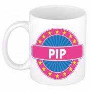 Bellatio Decorations Voornaam Pip koffie/thee mok of beker - Naam mokken