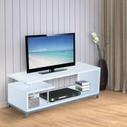 HOMCOM Mueble para Televisor Madera Blanco 114x40x40,5cm