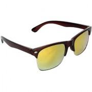 Zyaden Green Mirrored Rectangular Sunglasses