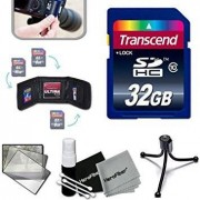 Xtech Transcend 32GB High Speed Memory Card KIT for Nikon Coolpix L840, L830, L820, AW130, AW120, L620, L610, L330, L320, L30, L28, L26, L120, L110, L100, AW110, AW100, L810, S80, S60, S220, L310, L24, L22, L20, L19 S210, S205, S520, S510, S500, S200, S70