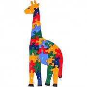 Giraffe Puzzle- 26 Letter Alphabet Learning Wood Block Puzzle for Nursery Kids (A-Z and 1-26)
