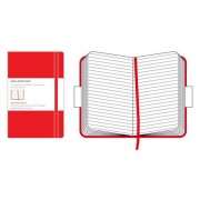 Unbranded Moleskine classic red ruled notebook pocket, linjerad 9x14cm