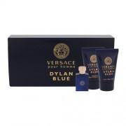 Versace Pour Homme Dylan Blue set cadou apa de toaleta 5 ml + gel de dus 25 ml + balsam after shave 25 ml pentru bărbați