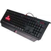 Tastatura Gaming A4TECH Bloody B120, iluminare rosu 5 nivele, USB, 1ms (B120)