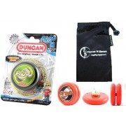 Duncan PROYO YoYo (Black) Pro String Trick YoYos with Travel Bag! Pro YoYos For Kids and Adults