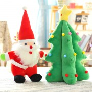 Grabadeal Christmas Santa and Christmas Tree Soft toy Gift Combo