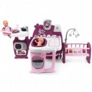 Centru de ingrijire Papusi Smoby Baby Nurse Doll's - Mov cu 23 accesorii