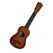 """DD 4-String Acoustic Guitar Learning Kids Toy, Brown 18"""""""