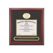 Signature Announcements Savannah-State-University Marco de Diploma de graduación con Sello de Aluminio esculpido Profesional/médico y Nombre de graduación, 40,6 x 40,6 cm, Color Cerezo