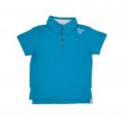Tricou polo pentru baieti,culoare albastru turcoaz, Emporio88 12luni