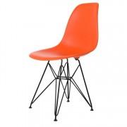 Charles Eames eetkamerstoel DD DSR mat PP oranje