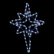 Karácsonyi figura, csillag figura IP44, kültérre is! 50x39 cm, 72 db hideg fehér leddel. Utcai díszítésre, villanyoszlopokra is alkalmas! Life Light Led 2 év garancia!