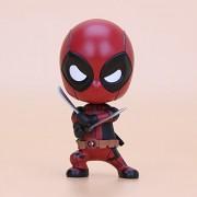 Deadpool Bobble Head Shaking PVC Action Figure Collection Model 10cm