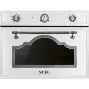 SMEG SF4750MBS beépíthető rusztikus mikrohullámú sütő - fehér / antik ezüst