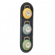 [en.casa]® Nástěnné hodiny ve tvaru semaforu - analogové - 25 x 4,5 x 80 cm - barevné