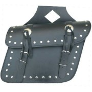 DBE 2pc Premium Leather Motorcycle Leather Saddle Bags DBE3601