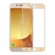 Folie Sticla Samsung Galaxy J3 2017 j330 Gold Fullcover 2D Full Glue Tempered Glass Ecran Display LCD