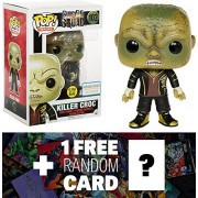 Killer Croc - Glow-in-Dark (B&N Exclusive): Funko POP! x Suicide Squad Figure + 1 FREE Official DC Trading Card...