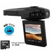 """Redlemon Cámara Para Auto DVR Con Pantalla LCD De 2.5"""", HD DVR, Visión Nocturna -Incluye Memoria MicroSD De 16GB"""