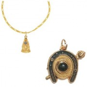 Combo of Hanuman Chalisa Yantra Locket With Chalisa Printed on Optical Lens and Shani yantra with Gold Plated Chain