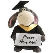 Animated Graduation Donkey Plush Cute Stuffed Animal Gift Sings Parody Song