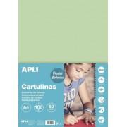 Kreslicí karton APLI A4/180gr/50lis smaragd.zelená