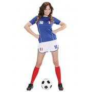 Disfraz de Jugadora de fútbol Francés para mujer