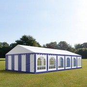 TOOLPORT Marquee 6x12m PVC 500 g/m² blue-white waterproof