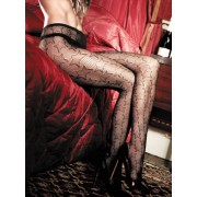 Baci Black Net Star Pantyhose 1073