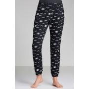 Womens Mia Lucce Slouchy Jogger - Black/White Sleepwear Nightwear
