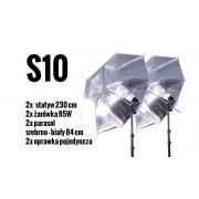 S10 Zestaw OŚWIETLENIOWY 2x 85W=400W Statyw 230cm