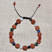 Bratara zodia Varsator cu rudraksha si pietre semipretioase