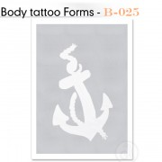 Šablon za Body Tattoo B-025