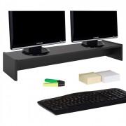 IDIMEX Support d'écran d'ordinateur SCREEN, en mélaminé noir mat