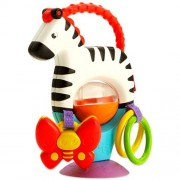 Zebra interactiva cu activitati - Fisher Price - cu inele colorate