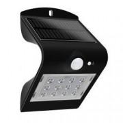 Aplica de exterior-lumina LED de culoare neagra cu panou solar si senzor de miscare putere-1 5W Plus 220 lm