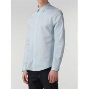Ben Sherman Main Line Sky Blue Long Sleeve Stretch Poplin Shirt XL Dusk Blue