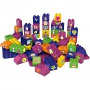 BiOBUDDi 60 Piece Educational Blocks and 2 Base Plates BB-0009